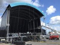 Die Bühne ca 24 Stunden später - Kiel 2015